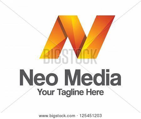 Business Corporate Letter N Logo Design Vector. Colorful Letter N Logo Vector Template. Letter N Log