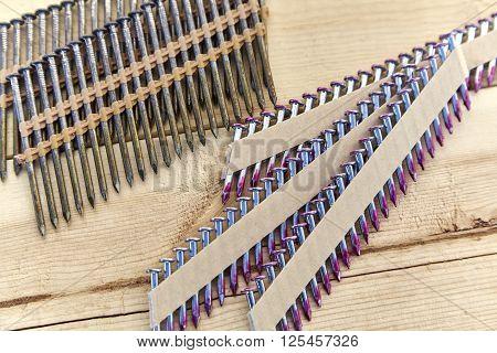 Used Nail Gun Rack Of Nails