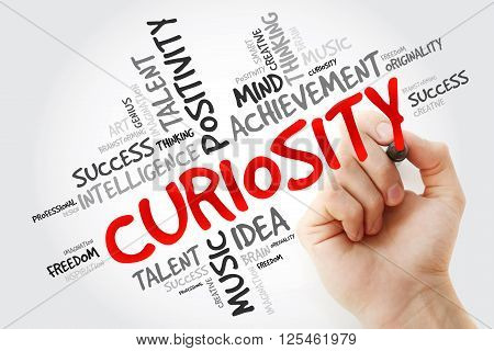 Hand Writing Curiosity With Marker