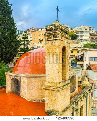 The Mensa Christi church (Table of Christi) was built on the place where Chist ate during his visiting Nazareth.