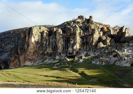 Caves in Ancient Phrygia Valley, Afyon, Turkey