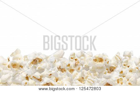Popcorn collection isolated on white background .