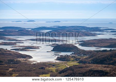 Norwegian Coastal Landscape, Small Islands