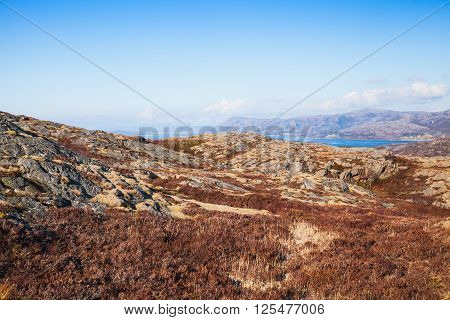 Spring Norwegian Mountain Landscape