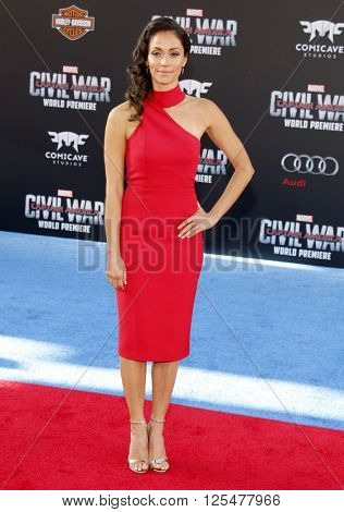 Fernanda Andrade at the World premiere of 'Captain America: Civil War' held at the Dolby Theatre in Hollywood, USA on April 12, 2016.