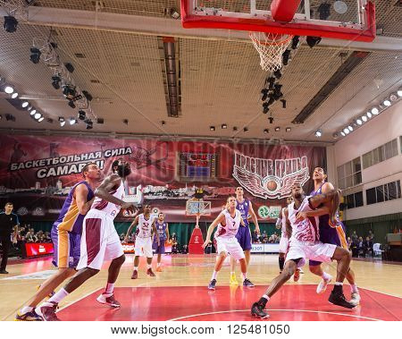 Bc Royal Hali Gaziantep Forward Dejan Borovnjak (14) Scored A Goal From The Free Throw Line
