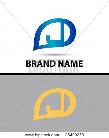 Letter J logo design. Vector illustration design