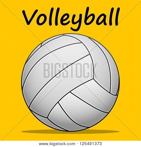 Illustration volleyball ball on a yellow background as a symbol of volleyball.