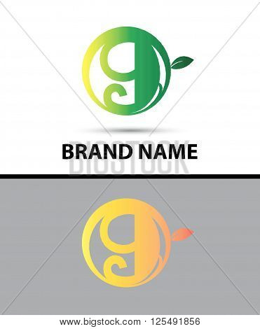 Vector sign Eco number nine logo tenplate