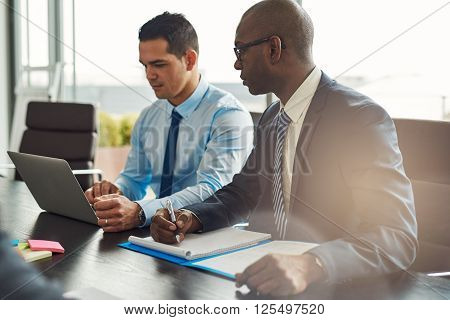 Two Experienced Business Executives In A Meeting