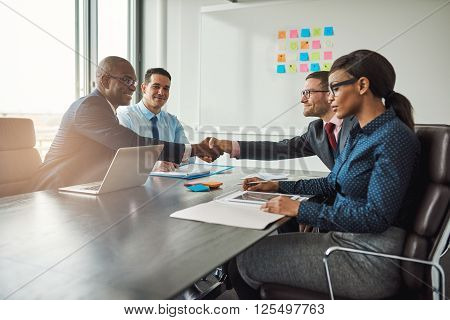 Two Business Teams Reaching An Agreement