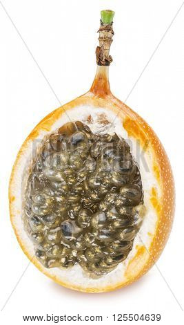 Granadilla fruit on the white background.