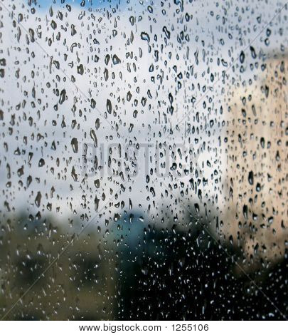 Drops On Glass
