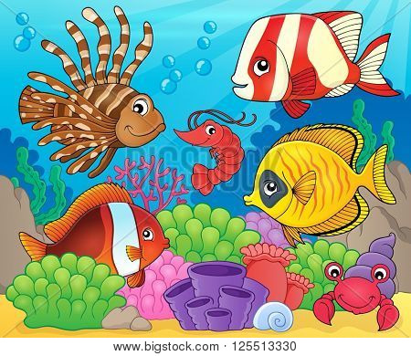 Coral fauna theme image 8 - eps10 vector illustration.