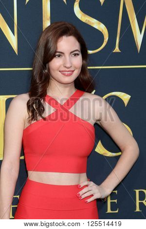 LOS ANGELES - APR 11:  Ivana Baquero at the The Huntsman Winter's War American Premiere at the Village Theater on April 11, 2016 in Westwood, CA