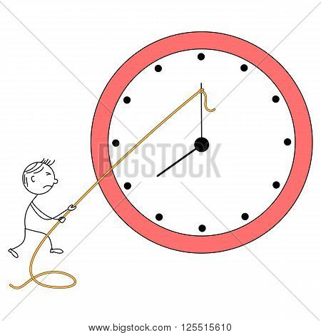 Illustration of stick man trying to control time