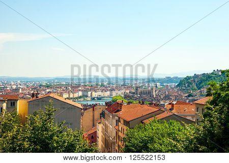 City Scape Of Lyon, France