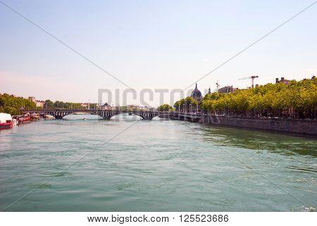 Bridge Over Saone River, Lyon