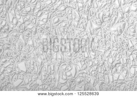 Close-up White swirl patterns on white background