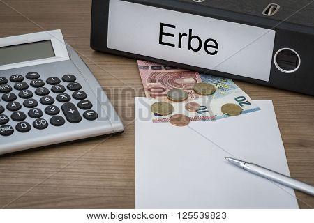 Erbe Written On A Binder