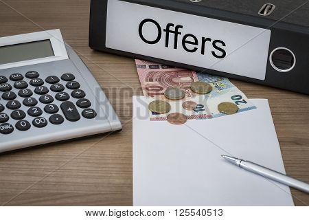 Offers Written On A Binder