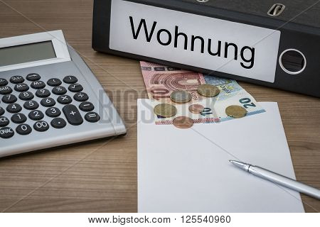 Wohnung Written On A Binder
