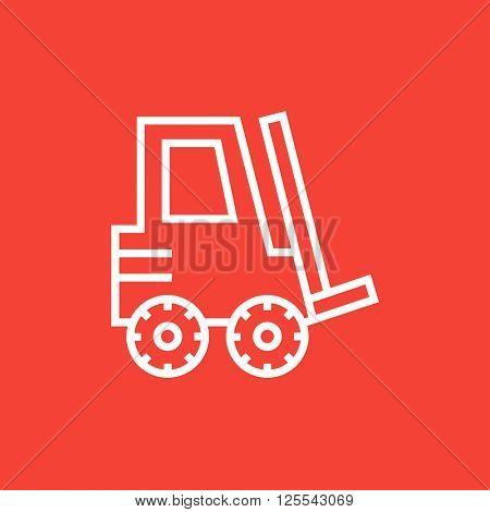 Forklift line icon.