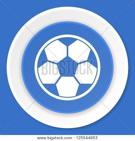 soccer blue flat design modern web icon