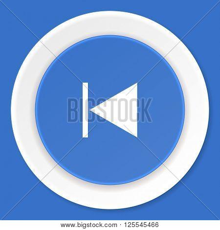 prev blue flat design modern web icon