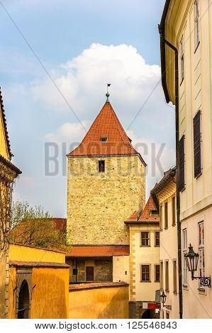 A Tower in Prazsky Hrad Castle - Czech Republic