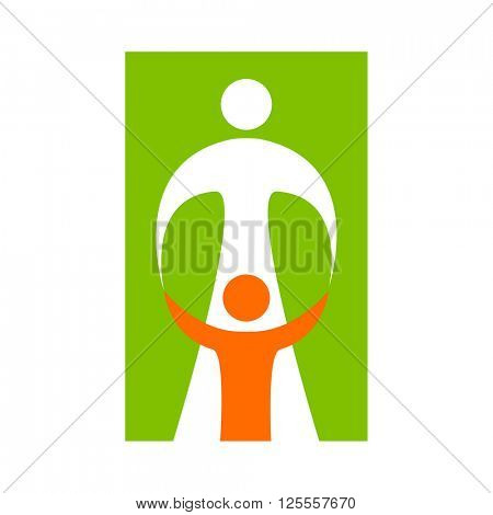 Mother Care Child Sign Symbol Vector Photo Bigstock