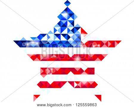 Star shaped polygon US flag