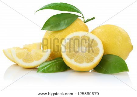 Lemon Lemons Fruits Isolated On White