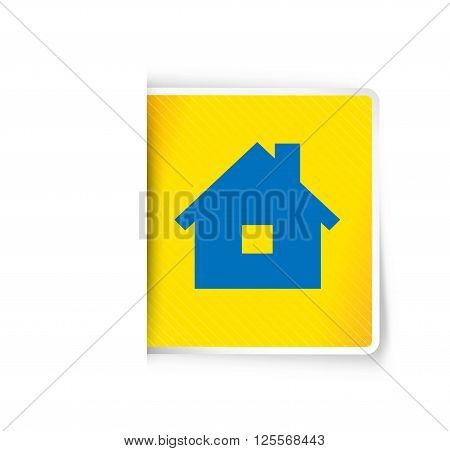 the illustration of house pictogram with subtle shadow