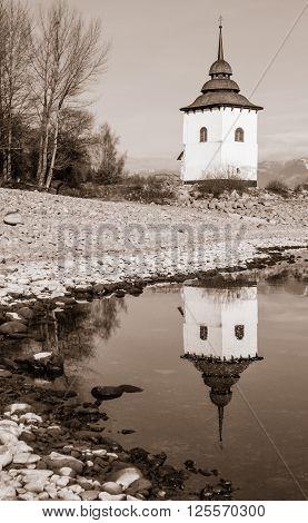 Mirror Reflection On Lake
