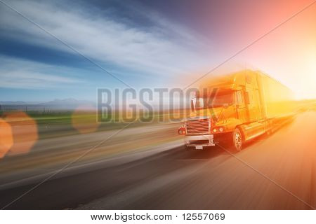Truck On Freeway