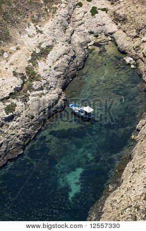 lampedusa coast, pelagie island, sicily, italy