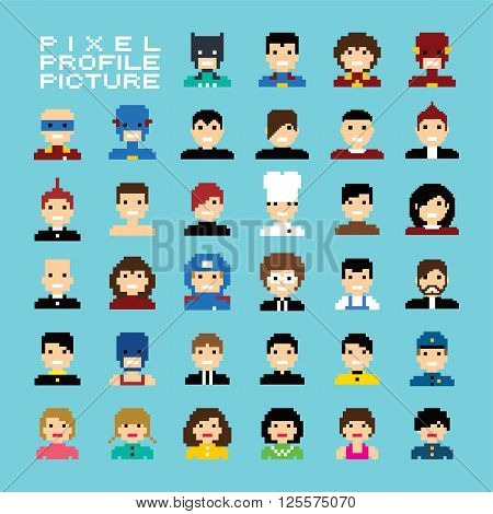 Pixel People Avatar Set