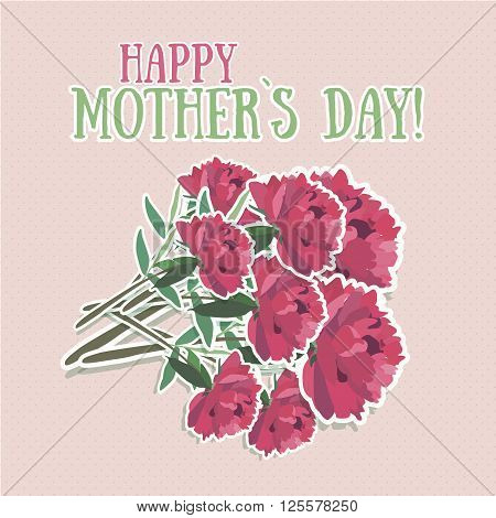 mothers day. Mothers day card. Mothers day background. Happy mothers day. Greeting card. Mothers day flower
