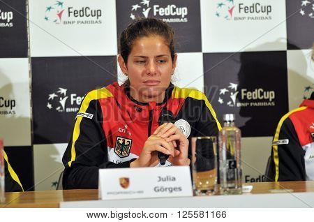 Tennis Player Julia Gorges During A Press Conference