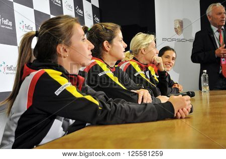 Women Tennis Team Of Germany During A Press Conference