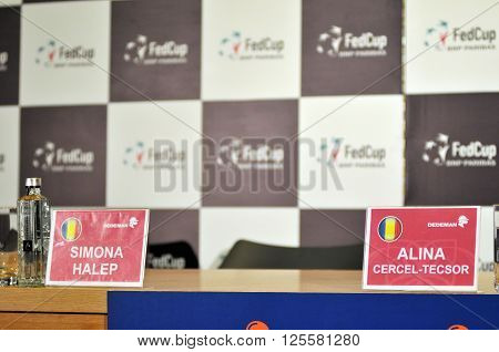 Press Conference With Tennis Player Simona Halep