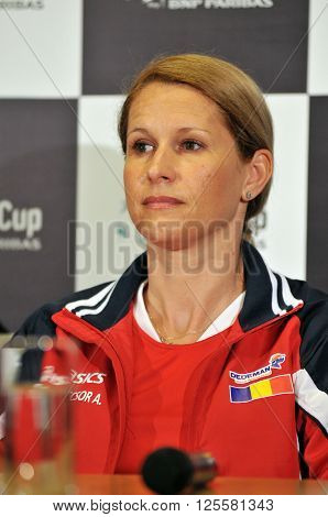Romanian Tennis Team Captain During A Press Conference