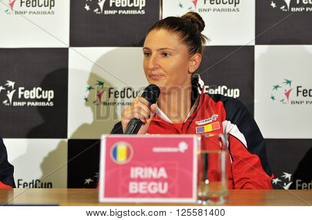 Romanian Tennis Player Irina Begu During A Press Conference