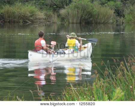 boys canoeing nymboida river new south