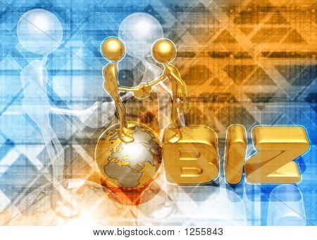 3D Dot Biz Concept