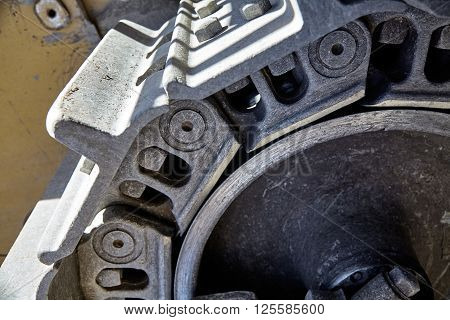 Construction Heavy Equipment Bulldozer Track Detail
