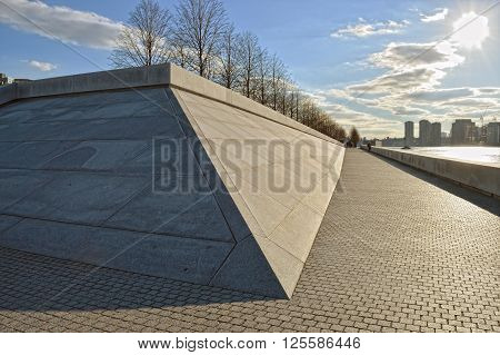 The Franklin Delano Roosevelt Four Freedoms Park on Roosevelt Island New York City.
