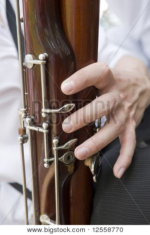 Playing on a bassoon