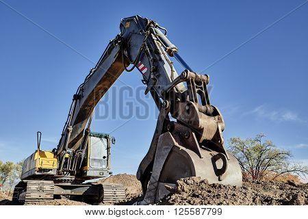 Industrial Heavy Equipment Machine Excavator Road Street Work